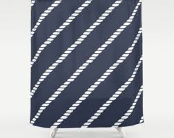 navy nautical shower curtain white octopus navy shower