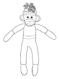 printable sock monkey coloring pages coloring