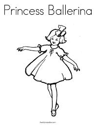 Princess Ballerina Coloring Twisty Noodle