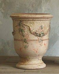 Outdoor Large Vases And Urns Large French Unglazed Anduze Garden Urn Pots Vielle Antique Finish