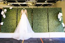 wedding backdrop greenery modern downtown ta garden wedding glazer s children museum