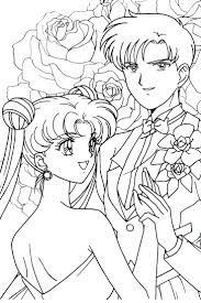 sailor moon series coloring pages mars neo queen serenity neo