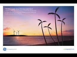 palm trees ge solar energy technology print ad