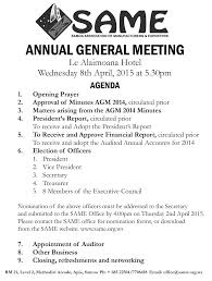 Meeting Agenda Templates by Annual General Meeting Agenda Template 5 Best Templates 5 Masir