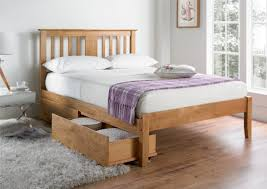 malmo oak finish wooden bed frame light wood wooden beds beds