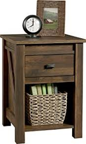 Rustic Pine Nightstand Amazon Com Mansion Rustic Nightstands With 1 Drawer And 1 Door