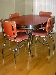 Retro Kitchen Table Sets by Vtg 50s Formica Table U0026 4 Chairs Mid Century Atomic Retro Dinette