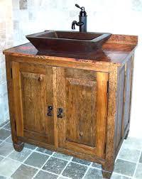 american craftsman 48 american craftsman vessel sink vanity rustic oak bathroom