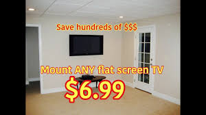 how to hide wires wall mount tv diy wall mount any flat screen tv for only 6 99 how to video