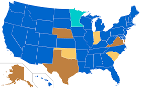 Large Maps Of The United States by Common Core Implementation By State Wikipedia