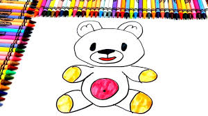 how to draw bear coloring pages for kids art colors for kids