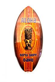mini surfboard wood sign aloha tiki surfboard shops of hawaii