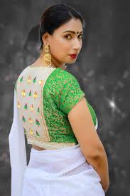 saree blouse buy readymade saree blouse green brocade blouse