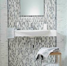 bathroom mosaic tile wall marble geometric pattern