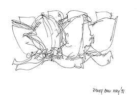 walt disney concert hall sketch by frank gehry architectural