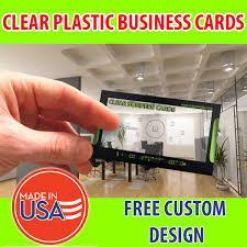Plastic Business Card Printing 1000 2 U2033x3 5 Clear Plastic Business Cards Colorcito Graphic