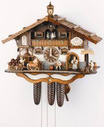 Modern Cuckoo Clock Anton Schneider Musical 8 Day 1 Wind Moving Waitress Coachman