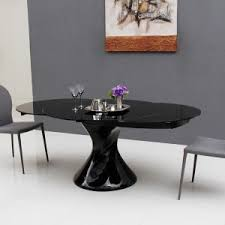 black lacquer dining room chairs dining room astonishing round expandable dining table with black