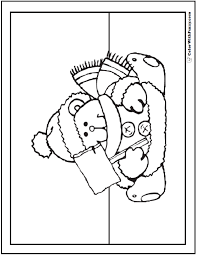 bear coloring pages grizzlies koalas pandas polar teddy