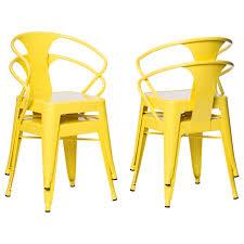 tabouret lemon metal stacking chairs set of 4 free shipping