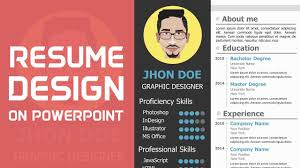 How To Write A Resume For Teacher Job by How To Make A Cv On Powerpoint Youtube
