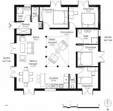plan de maison 4 chambres plain pied chambre plan maison 120m2 4 chambres high definition