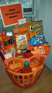 orange gift basket orange you glad it u0027s your birthday gift