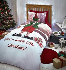 catherine lansfield santa father christmas duvet quilt cover xmas