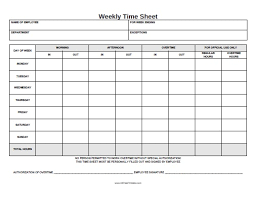 printable time sheet blank biweekly timesheet template in pdf 14