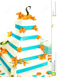 blue and white wedding cake stock photos image 15090673