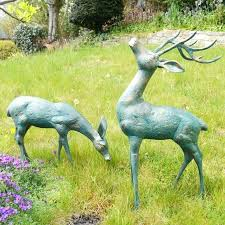 large deer bronze statues metal garden ornaments buy now at http