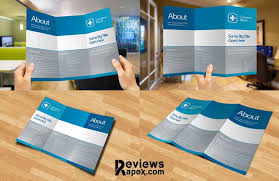 eye catching blank tri fold paper brochure mockup
