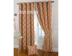 Jacquard Curtain Online Presto Rust Color Jacquard Curtain India Ready Made Presto