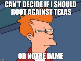 Notre Dame Football Memes - notre dame imgflip