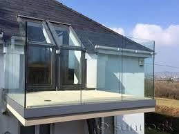 external glass balustrades scotland infinity glass balconies
