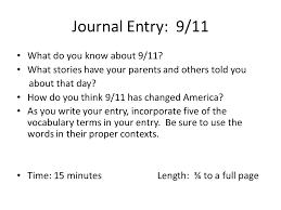 Entry9 by Journal Entry 9 11 What Do You Know About 9 11 What Stories Have