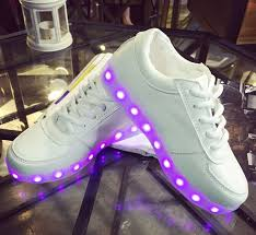 light shoes for mens usb charge colorful led light emitting fluorescent luminous shoes