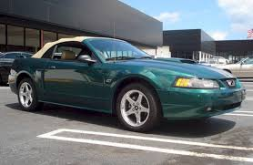Green Mustang With Black Stripes 2003 Gt Options Package