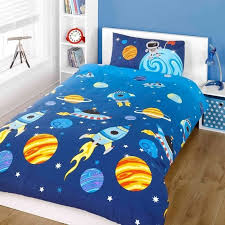 Space Bed Set Kid S Space Theme Bedding Sets Children S Room