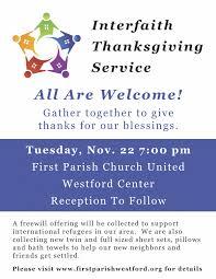 parish church united interfaith thanksgiving service