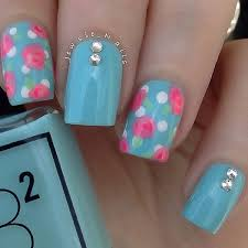 50 blue nail designs and design