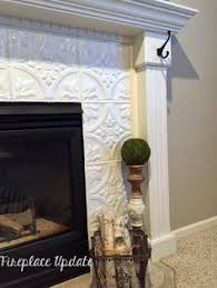 Paint Tile Fireplace by White U0026 Marble Fireplace The Makeover Details Paint Fireplace