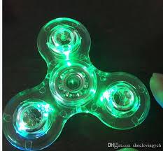 a light up fidget spinner new hand spinners led bright fidget spinner finger spinner