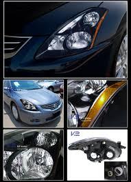 nissan altima headlights 2010 2012 nissan altima 4dr jdm style black headlights