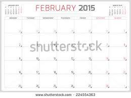 calendar planner 2015 template week starts stock vector 224554363