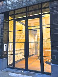 church glass doors bp architects storefront windows and door design at 37 west 65th