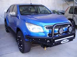 opel colorado tuff terrain steel bull bar holden colorado