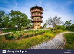 the pagoda at patterson park in baltimore maryland stock photo