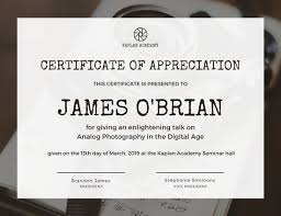 sample text for certificate of appreciation appreciation certificate templates canva