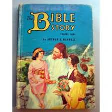 vintage 1920s illustrated childrens bible titled bible stories